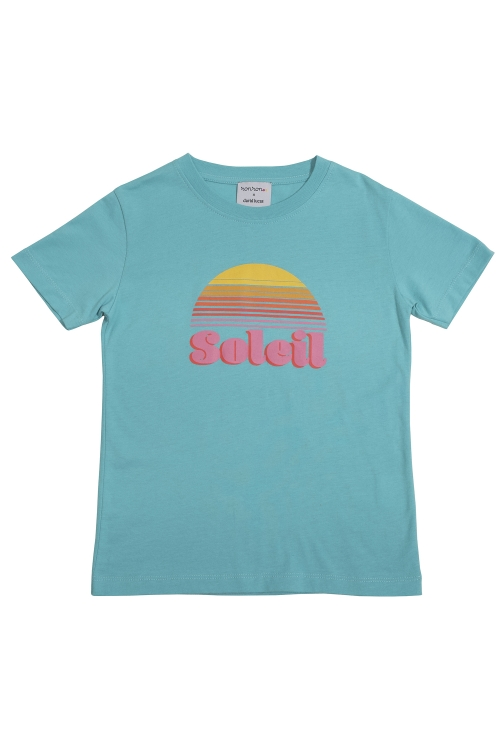 TEE-SHIRT SOLEIL TURQUOISE