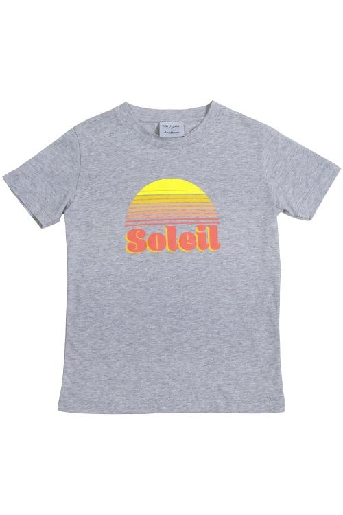TEE-SHIRT SOLEIL GRIS ENFANT